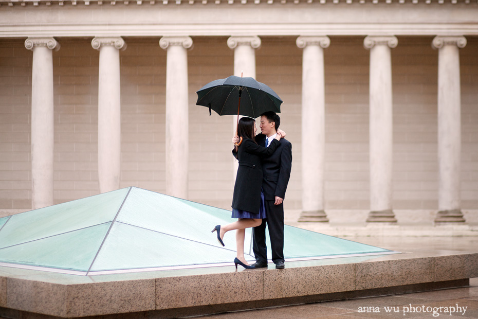 Silvia & James | Palace of the Legion of Fine Arts Rainy Day Engagement Session | sj_037_rt