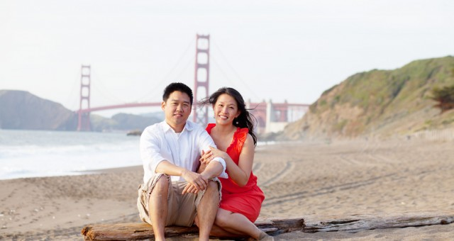 Mega & Jason | Baker Beach | San Francisco Engagement Photography