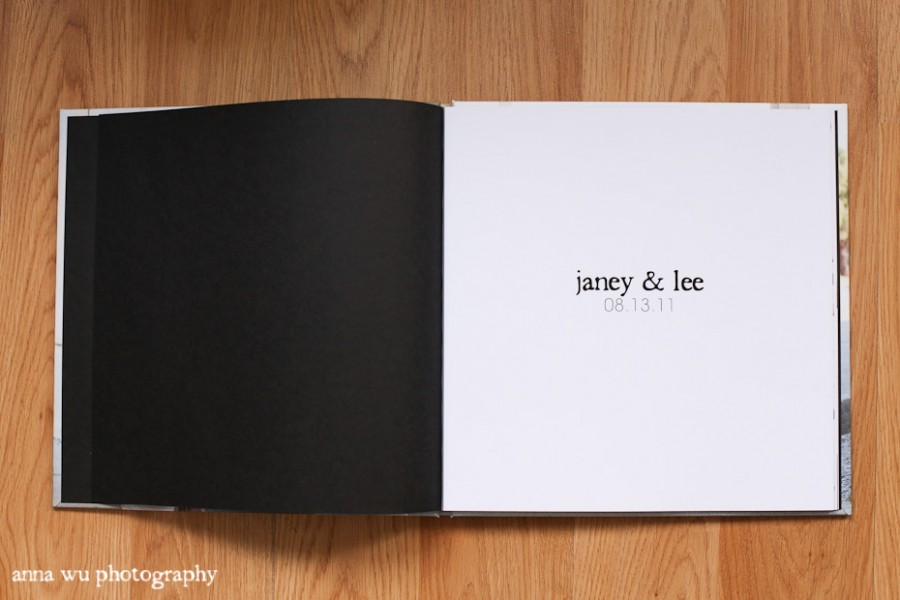 The book is ready for Janey Lee 39s wedding in a couple weeks Two sample