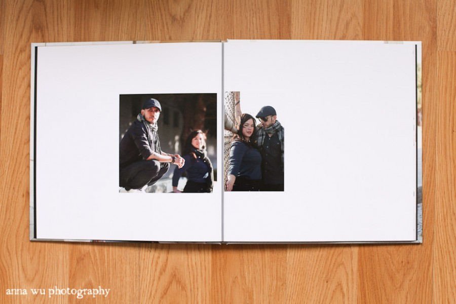Two sample spreads from the book The beautiful thick pages lie perfectly