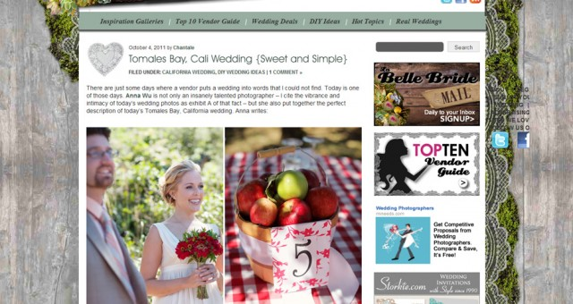 Published | Six Wedding Blogs