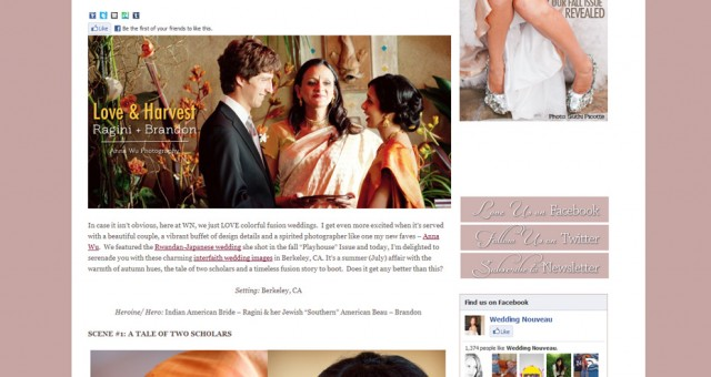 Published | Ragini & Brandon on Wedding Nouveau