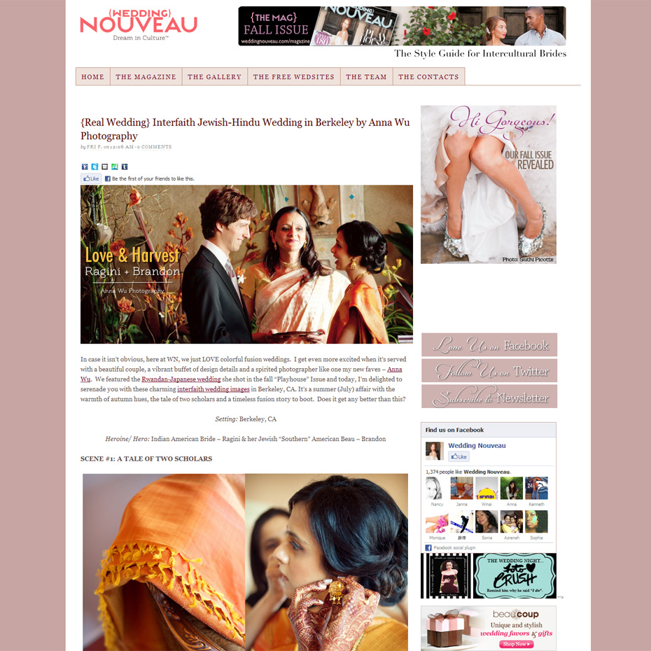 Wedding Nouveau- Ragini & Brandon | Anna Wu Photography