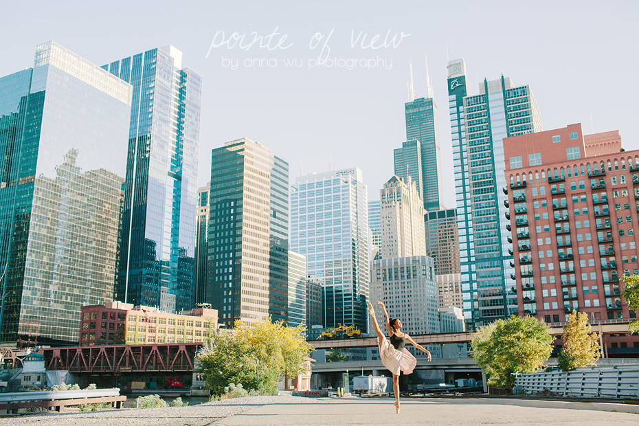 Dancing in Downtown Chicago | Pointe of View ballerina series by Anna Wu Photography