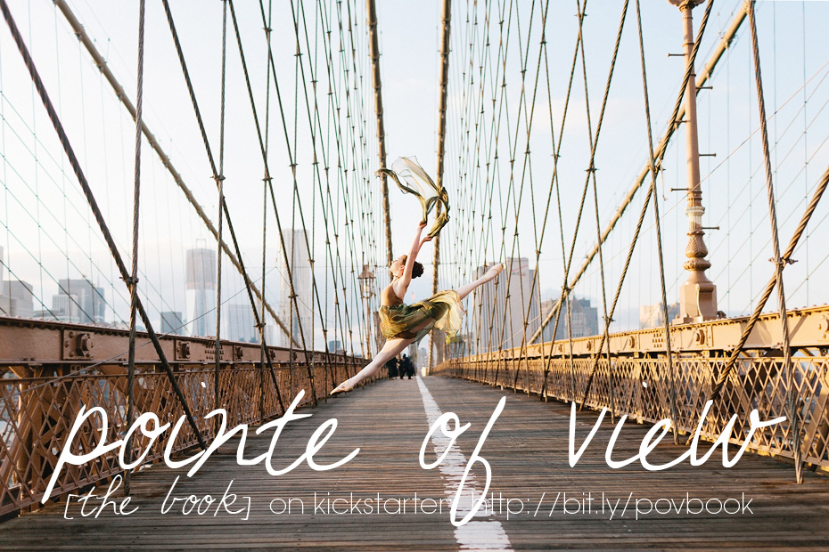 Pointe of View the ballerina book on Kickstarter