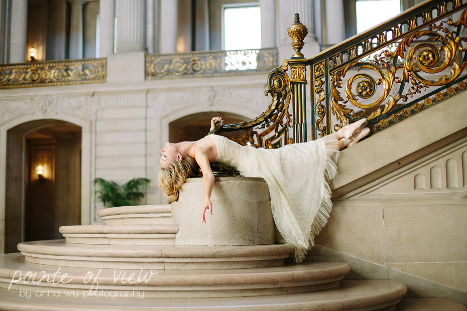 Pointe of View ballerina photography by Anna Wu | San Francisco City Hall