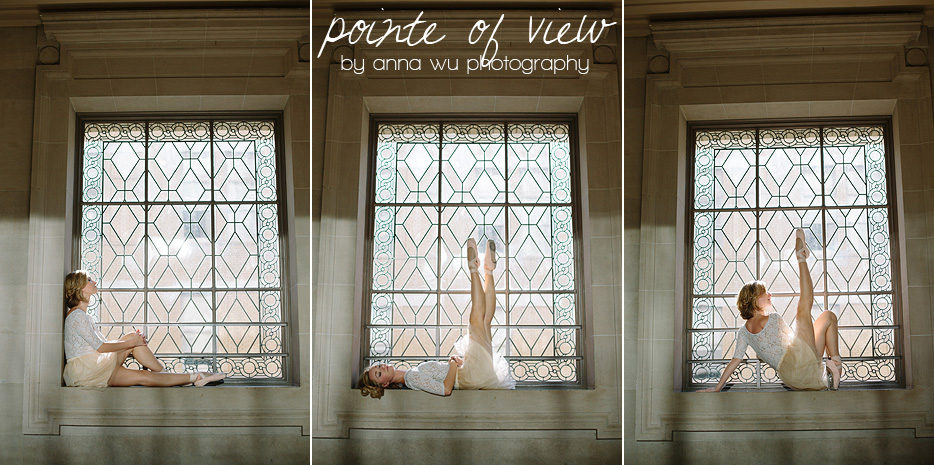 Pointe of View ballerina series by Anna Wu Photography | San Francisco City Hall