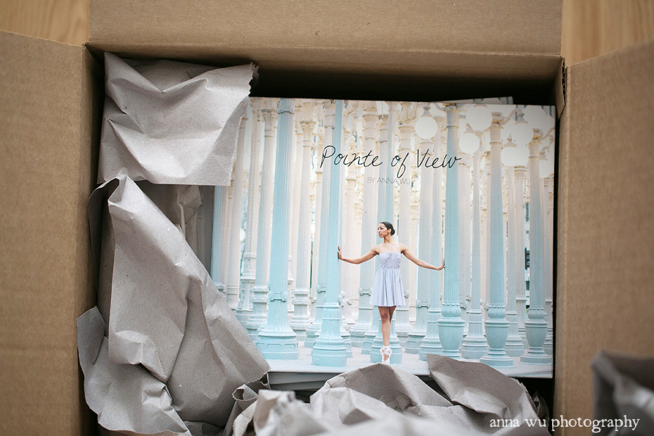 Pointe of View ballerina book by Anna Wu Photography | shipping and packaging