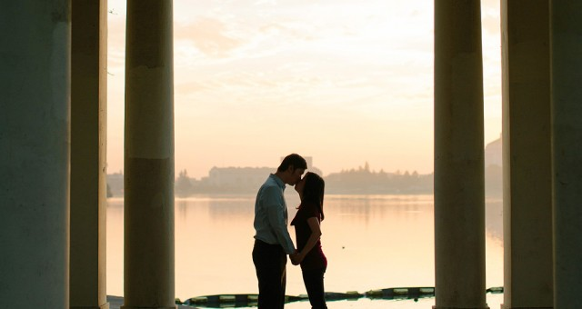 Cindy & Tran | Sunset at Lake Merritt | Oakland Portrait Photography