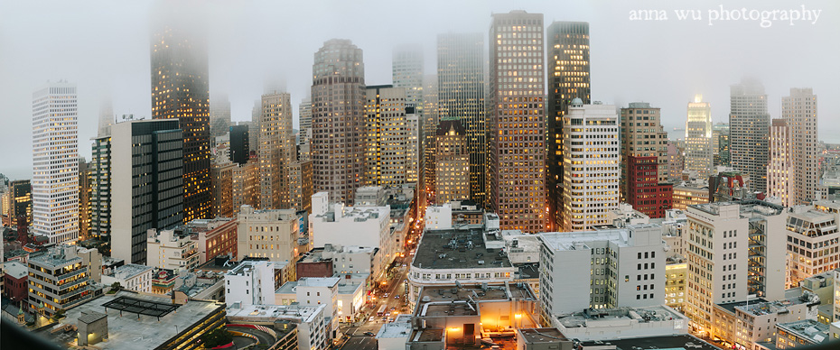Downtown San Francisco Panoramic Skyline at Dusk | Cityscapes at Dusk by Anna Wu Photography | sfstaycation_133