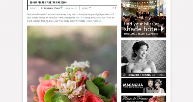 Gloria Ferrer Vineyard Wedding | Featured on Style Me Pretty