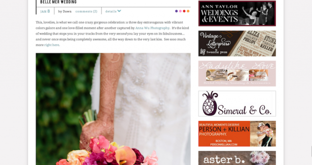 Indian Belle Mer Wedding | Featured on Style Me Pretty