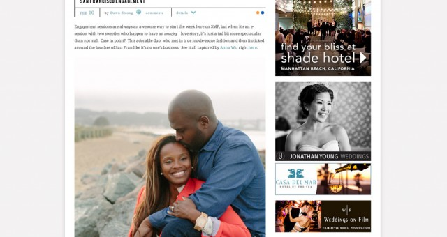 San Francisco Engagement Photography | Featured on Style Me Pretty