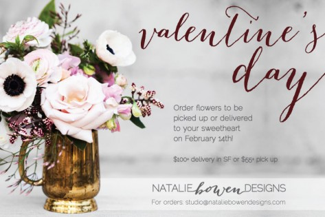 natalie bowen designs order flowers to be picked up or delivered to your sweetheart