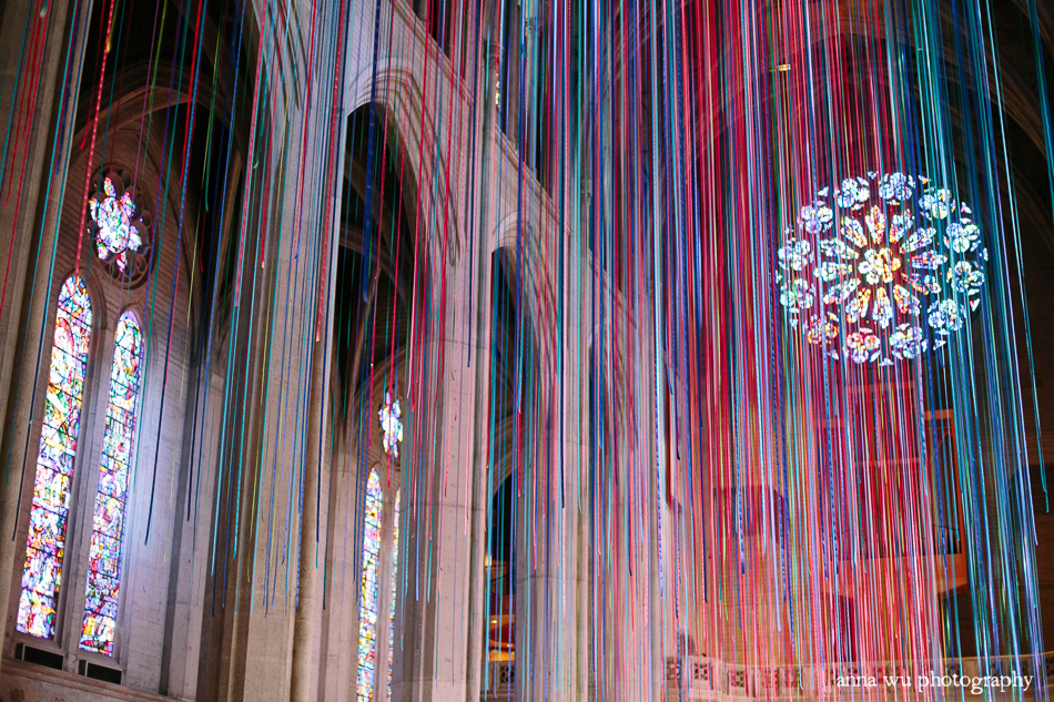 Graced With Light Ribbon Installation Grace Cathedral San Francisco | Anna Wu Photography