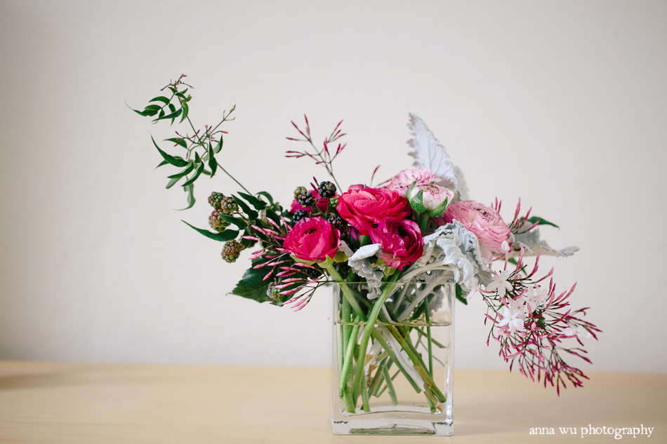 Valentine's Day Floral Arrangement by Natalie Bowen Designs | An