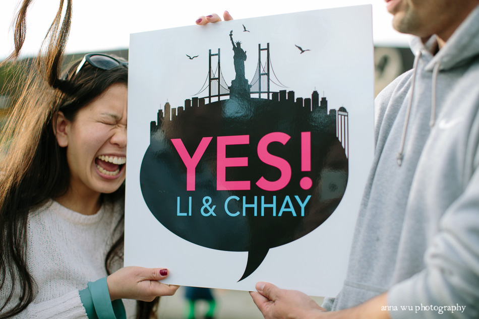 San Francisco Flashmob Surprise Proposal Photographer | Anna Wu