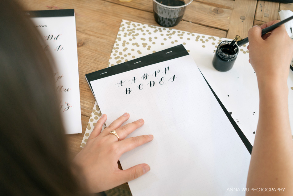Brown Fox Calligraphy | Anna Wu Photography