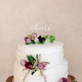 Cake Toppers by Brown Fox Calligraphy, Andrew Chao, Hawthorn Flower Studio | Anna Wu Photography