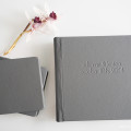 Gray Leather Wedding Album | Anna Wu Photography