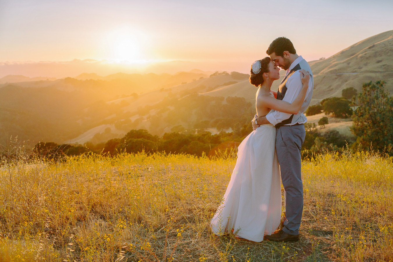 Diablo Ranch Wedding Photography | Cristin & Michael at sunset