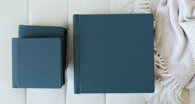 Rebecca & David | Pagoda Leather Wedding Album