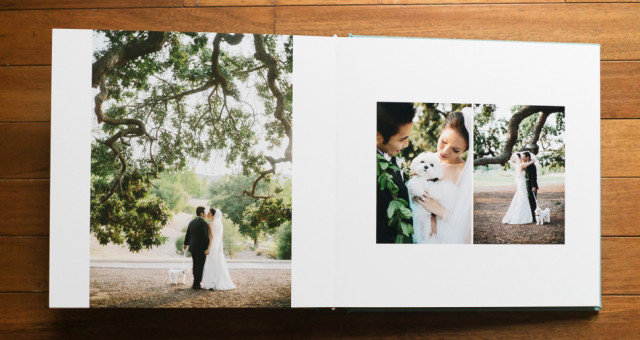 Victoria & Vaughn | Turquoise Mist Silk Wedding Album