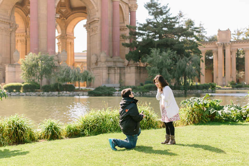 Surprise Proposal at the Palace of Fine Arts | San Francisco Pro