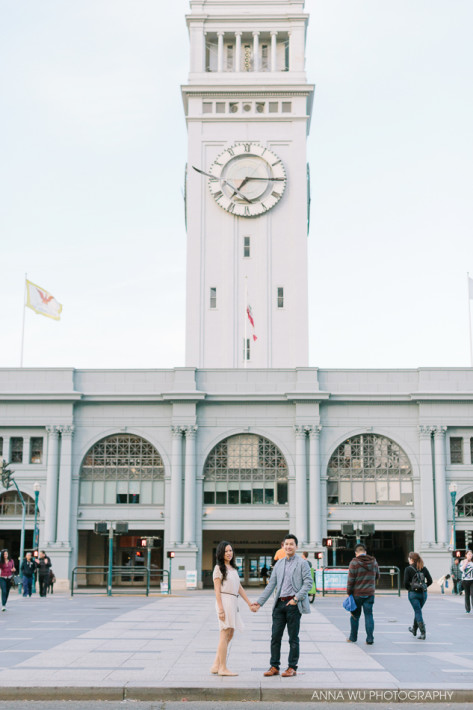 Ferry Building Embarcadro Engagement Session   Pauline & Justin