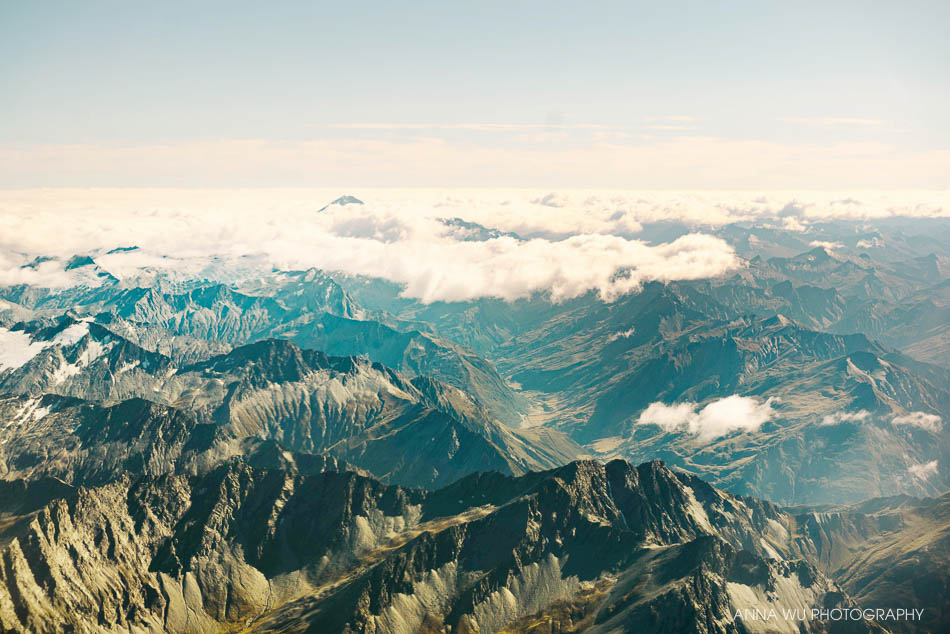 Flying over South Island, New Zealand | Anna Wu Travelogues