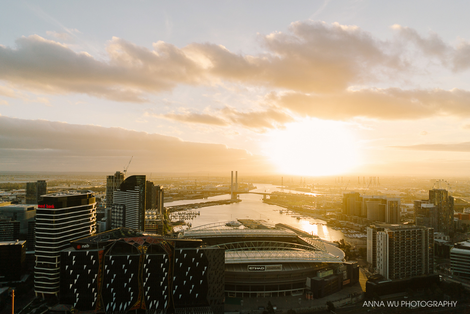 Sunset over Melbourne | Travelogues by Anna Wu Photography