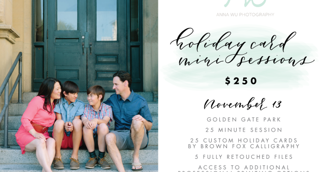 San Francisco Holiday Card Mini Sessions, 2016
