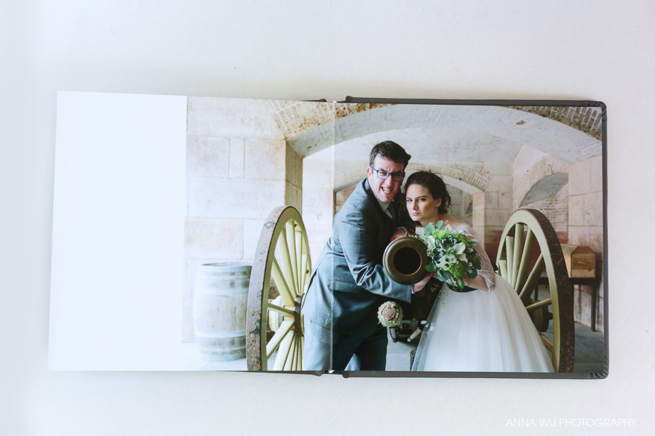 Gunmetal Gray Leather Wedding Album | Karen & Casey