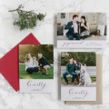 Custom Holiday Mini Session Cards by Brown Fox Calligraphy x Anna Wu Photography