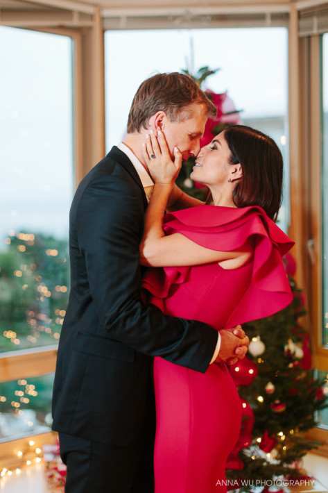 Christmas Themed Engagement Session | San Francisco Engagement P