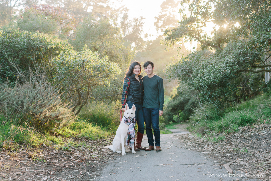 San Francisco Holiday Mini Session with Dog in Golden Gate Park
