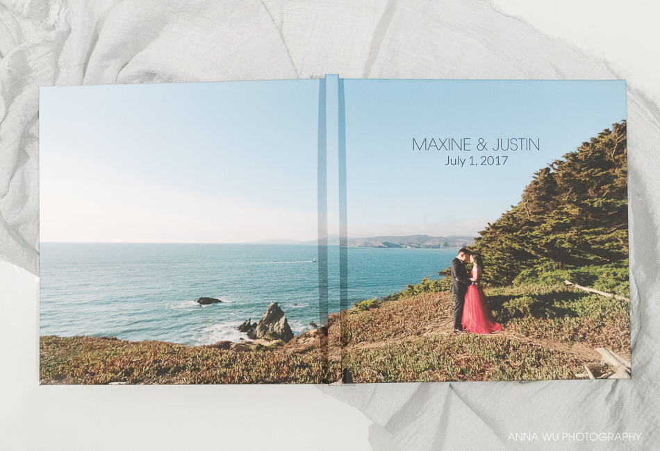 Custom engagement guest book | Maxine & Justin