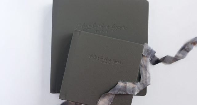 Liz & Ryan | Gunmetal Grey Leather Wedding Album